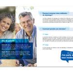 Dépistage du cancer du colon, Programme vaudois. Brochure, double page