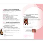 """Invitation """"10 ans de dépistage du cancer du sein"""".  Dépliant, double page."""