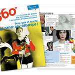 Magazine 360°. Rédaction Image / Illustration couverture du n° 77