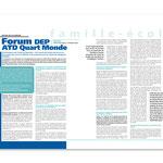 """DIP / Enseignement primaire, """"Correspondances"""" magazine n° 21, double page"""