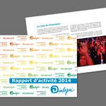 """Dialogai, """"Rapport d'activité 2014"""". Plaquette"""