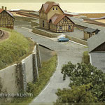 Blick auf den Bahnhof Lanckenau