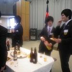 4年主将 平野央先輩、4年副主将 小山将太郎先輩