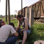 09.06.2012 |Ремонт на железной дороге.