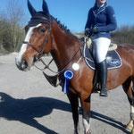 Joana und ihre Chloé K - vierter Platz im Springpferde L am Sonntag in Leutkirch-Haid