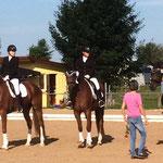 Franzel in der Siegrehrung der Dressurpferde M in Biberach