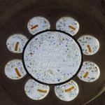 la rosace Sud (nouveau Testament). Philippe Brissy. Atelier Théophile. Saumur
