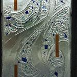 la matière verre se fait eau. Philippe Brissy. Atelier Théophile. Saumur