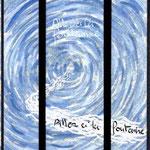 """la maquette du vitrail """"allez à la fontaine"""". Atelier Théophile.Philippe Brissy. Saumur"""