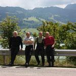 Pause an Autobahnrastplatz nahe Fribourg/CH