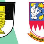 Das alte Wappen von Kleintettau zeigt noch heute einen Kelch aus Glas. 2011 wurde das 350ste Jubiläum der Glashütten und Ortsgründung gefeiert. Zwei Glasbläser zieren das Familienwappen der Glasmacherfamilie Heinz.