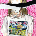 「 IRON MAIDEN」B4 画用紙にクレヨン