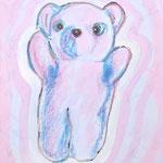 『Armpit sweat ーteddy bearー』 キャンバズにアクリル、油彩 273×220