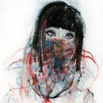 少女  2013 油彩、クレヨン 606×500mm