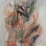 無題 油彩 油彩ペン 606×500