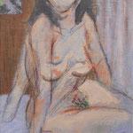 「成熟期」 2018  22.7×15.8  キャンバスに油彩、クレヨン、鉛筆