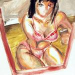 最近買ったブラ 油彩 クレヨン ジェッソ 606×500