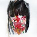 女の子 2013 油彩 273×220mm    個人蔵