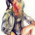 アイスシャーベット 油彩 クレヨン 273×220