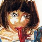 油彩 クレヨン 227×158 個人蔵