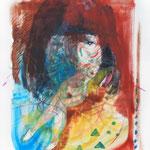 絵画  2013 油彩、クレヨン 606×500mm