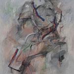 自画像 油彩 クレヨン 1,620×1,300
