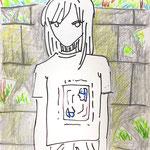 「 NANPA T」B4 画用紙にペン、クレヨン