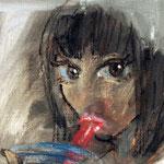 油彩 クレヨン 227×158