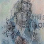 無題 油彩 油彩ペン 455×380