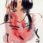 それぞれ口内炎中 油彩 クレヨン ジェッソ 180×140