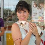 """Акция """"Добрые посылки"""" 07.07.2011. Киса с новой хозяйкой."""