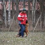 Manuela Friedrich mit Fanni vom Team Finkensteiner Forst