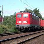140 652 km 35,4 am 03.09.2007 Der Reiseverkehr wurde über Potsdam umgeleitet. Im Hintergrund 143 300  mit RE7