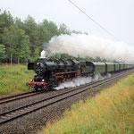 Sonderzug mit 52 8177 Bad Belzig km 61,2 am 14.07.2012