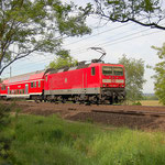 143 305 schiebt RE7 nach Belzig – km 62,4 am 14.05.2009