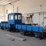 Der SKL 24 von den Belziger Eisenbahnfreunden abgestellt im Lokschuppen am 23.09.2012