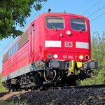 151 104 Belzig km 63,2 am 13.05.2009 – AW Probefahrt