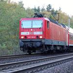 143 138 am 19.10.2007 mit RE 7 nach Belzig an km 67,2