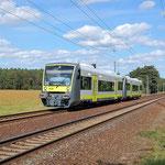 Überführung der Agilis VT 650 737 und738 Bad Belzig km 62,6 am 06.09.2011