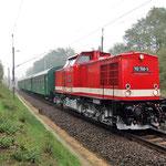 Am 23.10.2009 verlassen die Belziger Reko-Wagen ihren Standort in Richtung Erzgebirge. Die Frisch untersuchte 112 708 beförderte den Zug.