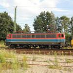 109 028 mit einen Bauzug am 26.07.2007