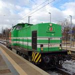 Lisa 1 am 15.02.2012 Durchfahrt Bahnsteig 2 in Richtung Seddin