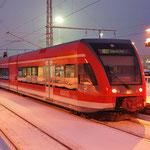 Am 30.12.2010 lag viel Schnee. 646 020 auf den Weg nach Berlin Schönefeld