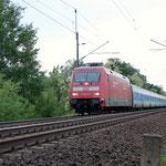 101 002 mit dem Nachtzug aus München am 28.05.2009