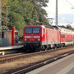 143 163 erreicht den Bahnhof Beelitz Heilstätten am 22.08.2009