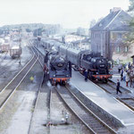 Am 12.10.1985 traf ein Sonderzug mit 62 015 und 64 007 aus Brandenburg in Belzig ein