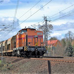 Arcelor 62, eine V100.4, an km 65,8 am 01.04.2010