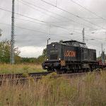 Locon 218 mit einen kurzen Bauzug am 24.09.2013