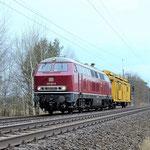 215 001 Überführung eines Fahrleitungsmotagewagens von der Firma Spitzke am 27.01.2016