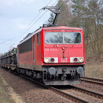 Jahrelang wurden die BR 155 von Werk Seddin eingesetzt, jetzt ist sie immer seltener zu sehen - 155 123 am 01.04.2011